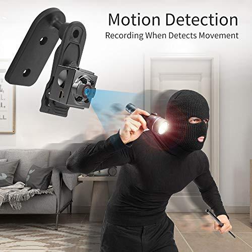 Spy Camera, E COASTAL Mini 1080P Full HD Spy Hidden Camera Recorder with Night Vision Motion Detective for Security Surveillance Camera Nanny Home Office