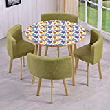 Bass Drum Coffee Table iPrint Round Table/Wall/Floor Decal Strikers,Removable,Colorful Instruments Bass Guitar Rock Microphone Trumpet Saxophone Jazz Party Theme,for Living Room,Kitchens,Office Decoration
