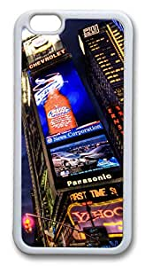 iphone 6 plus 5.5inch Case and Cover Prosperity In Times Square TPU Silicone Rubber Case Cover for iphone 6 plus 5.5inch White