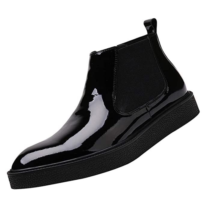 Botas De Hombre De QVRGE Botines Altos Para Ayudar En Las Botas De Invierno Zapatos Casuales Cálidos Zapatos Derby: Amazon.es: Ropa y accesorios