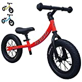 Banana Bike GT - Balance Bike with 12' Alloy Wheels for Kids 2, 3, 4, 5 Year Olds (Red New)