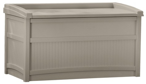 Suncast Premium Deck Box with Seat (50 Gallon) : Target