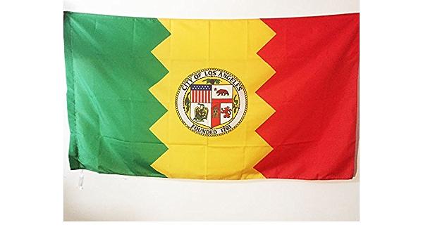 AZ FLAG Bandera de la Ciudad DE LOS Angeles 90x60cm para Palo - Bandera DE LOS Angeles - California 60 x 90 cm: Amazon.es: Hogar