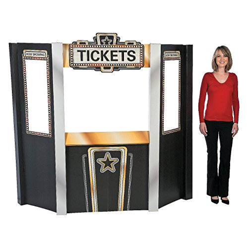 Movie Night Theater Ticket Booth Cardboard Stand-Up by CusCus
