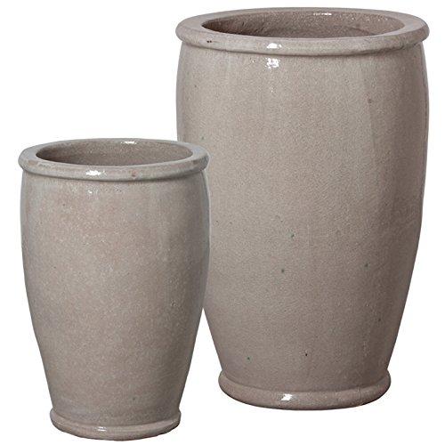 Round Ceramic Planters - Grey (set of 2) by Emissary