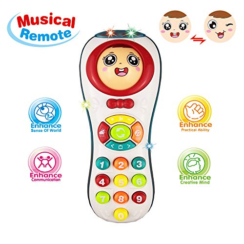 Educational Remote Toys 2 Year Olds Girl, Learning Count Remote Toys 1-3 Year Old Baby Boy Kids Toys 3-12 Months Girl Gift 9-18 Months Toddler Toy Age 1 2 3 Boy Baby Birthday Gift Baby