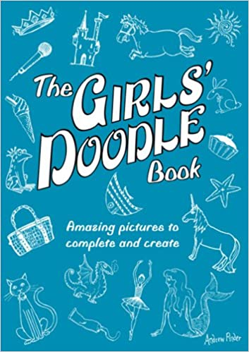 amazon the girls doodle book amazing pictures to complete and
