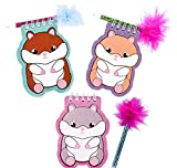 DollarItemDirect 4'' Hamster Notebook with Feather Pen, Case of 288
