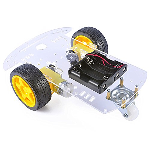 (Gowoops Car Chassis Kit with Motors, Speed Encoder and Battery Box for Arduino DIY)