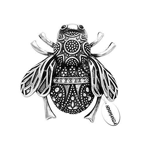 ver Plated Bumble Bee Brooch Pin for Women ()