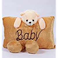 Richy Toys Baby Teddy Bear Pillow Stuffed Soft Plush Soft Toy (Brown)