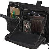 Highland Tactical Tactical Messenger Bag, Black, 12