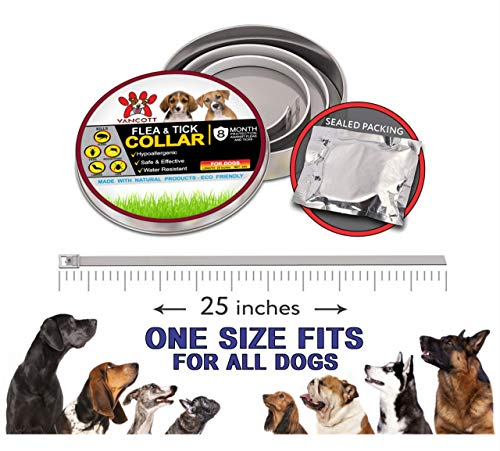 Yancott Flea Dogs - 8 of - Safe and Toxic - - Size - Water - - Tick Collar Cats/Dog Collar