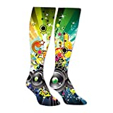 Cool Music Hip-Hop Long Socks High Socks Knee High Thigh Stockings