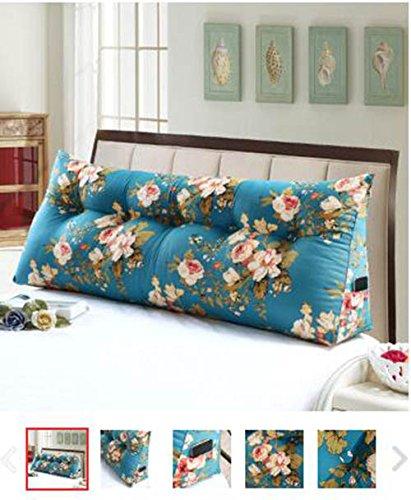 lhl-cuscini di riempimento standard Letto matrimoniale testata cuscino cuscino cuscino testa morbido letto borsa cuscino del divano Triangolo schienale Biancheria da letto Colore : N , dimensioni : Xl cuscini lombari divani