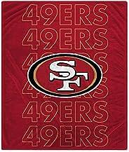 Pegasus Sports NFL Echo Team Wordmark Plush Blanket- San Francisco 49ers