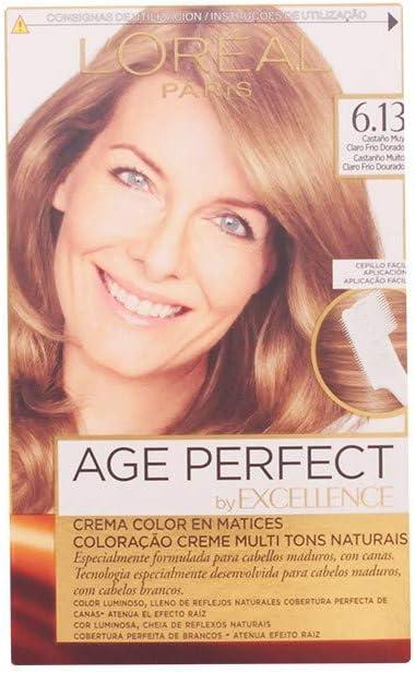 excellence age perfect tinte 6,13 castaño claro frío dorado ...