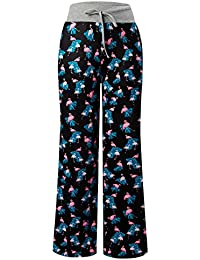 Women's Palazzo Pajama Pants Summer Casual Print...