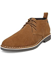 Men's Genuine Suede Leather Casual Lace Up Dress Chukka Desert Boot Shoes