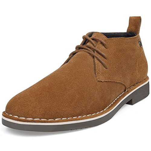 Chukka Lace Fit Men's Desert Comfortable SEMANS Ankle Casual Suede Shoes Leather Boot Boot Stylish Up Shoes Brown Fashion WREnqX4wfn