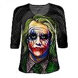 Womens Lace Sleeve Shirt Shaff Oceans the Joker Batman Heath Ledger (Small)