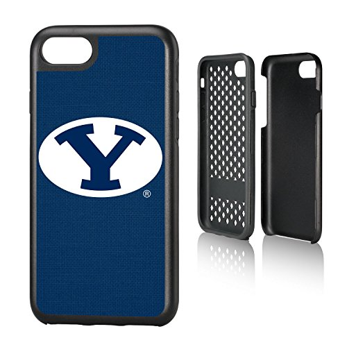 Keyscaper KRGDI7-0BYU-SOLID1 Brigham Young Cougars iPhone 8/7 Rugged Case with BYU Solid ()