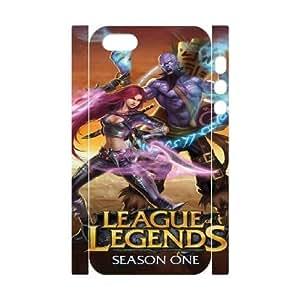 Protection Cover iphone5 5S 3D Cell Phone Case White Qcisz League Of Legends Durable Rubber Cases