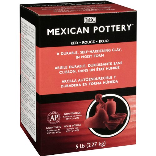 Self Hardening Clay (AMACO Mexican Self-Hardening Clay, 5-Pound, Red)