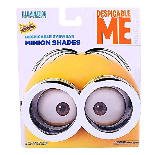 Officially Licensed Chrome Minion Goggles Despicable Me 3 Sun-Staches Shades