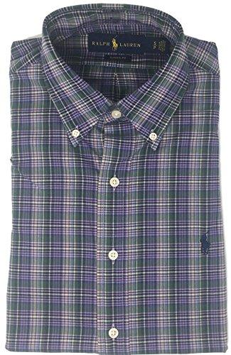 Ralph Lauren Men's Cotton Twill Classic Fit Button-Down Shirt (M, - For Polo Ralph By Men Lauren