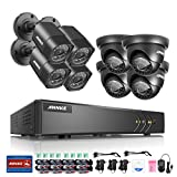 ANNKE Complete 8CH 1080N Surveillance DVR with (8) HD 720P Weatherproof Cameras CCTV Camera System, Super Day/Night Vision, Remote Access, NO HDD Included