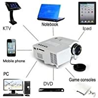 New Projector Home Theater 1080P Mini HD LED Cinema Multimedia PC USB TV AV HDMI Enjoy Have fun Size 13.5 x13.2x 5.2cm White