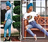 Large Head Scarf for Black Women Fashion Long Soft