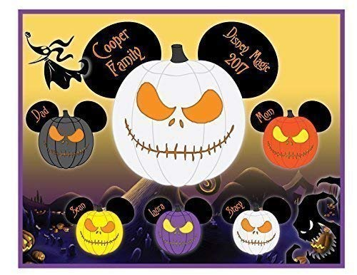 8 x 10 MAGNET SIGN Nightmare Halloween Jack Skellington Mouse Head Family Magnet for Disney Cruise - IMAGES ARE NOT MEANT TO BE CUT OUT -