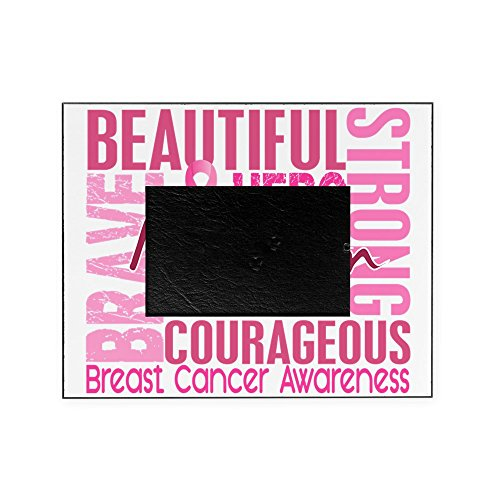 CafePress - Tribute Square Breast Cancer - Decorative 8x10 Picture Frame