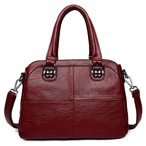 Bag Wild Women's Bag Shoulder Bag Bag layer Handbag Burgundy Shoulder New Killer Messenger Bag Multi AqHg0w