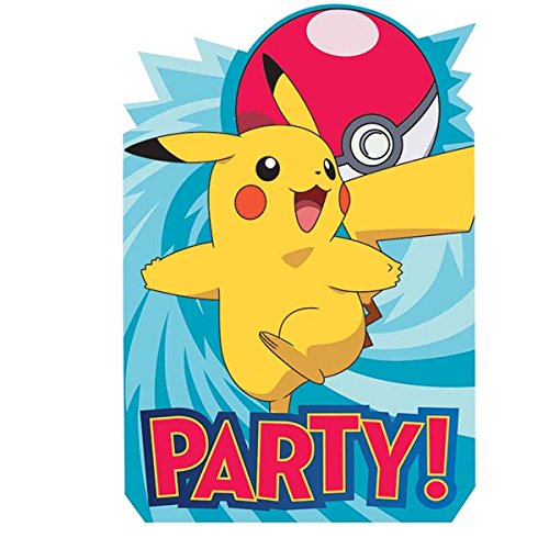 16 Pack Pokemon Pikachu Postcard Style Party Invitations with Envelopes Seals and Save the Date Stickers Plus Party Planning Checklist by Mikes Super Store