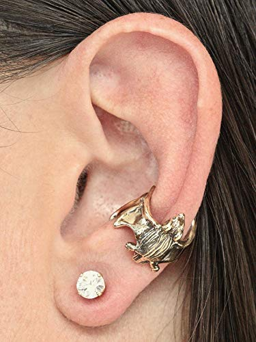 (Bat Ear Cuff Gold Bat Ear Wrap 14K Gold Ear Cuff Bat Jewelry Bat Earring)