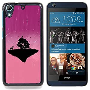 "A-type Arte & diseño plástico duro Fundas Cover Cubre Hard Case Cover para HTC Desire 626 (Zombie Skull Skeleton"")"