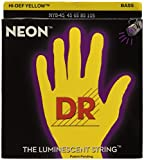 DR Strings NYB-45 Coated Nickel Hi-Def Yellow Bass Guitar Strings, Medium