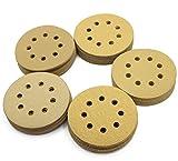 LotFancy 5-Inch 8-Hole Dustless Hook-and-Loop Sanding Disc Sander Paper, Pack of 100 (20 Each of 60 80 120 150 220 Grits)