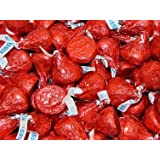 Hershey's Kisses 2 pounds Red Foil Wrapping Milk Chocolate