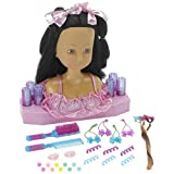 Dream Dazzlers salon Styling Head doll- African American