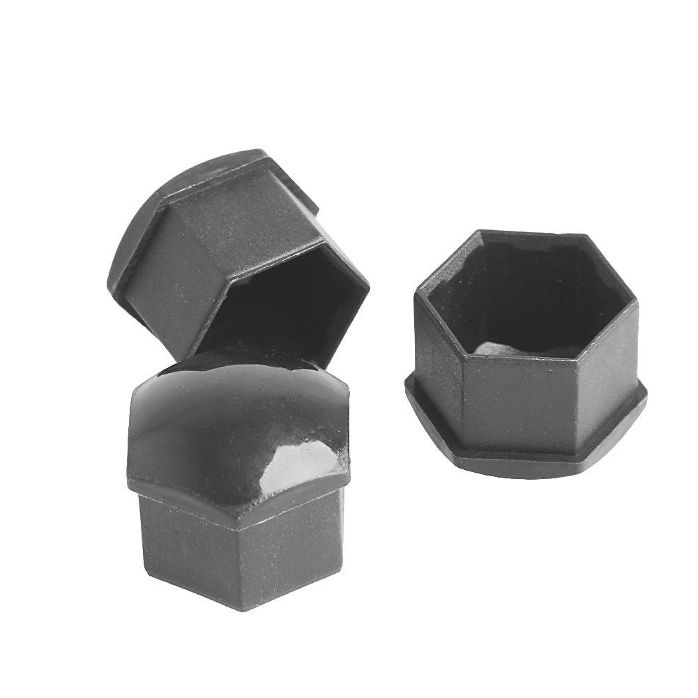 Lhuaguo 20pcs 17mm Voiture Roues /écrous en Plastique avec des Outils de Suppression Bouchon /à vis Gris pour VW Audi Gris