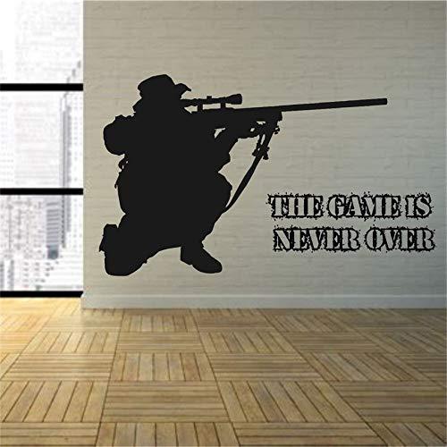 Geiqianjiumai Juego Army Sniper Rifle Room Sniper Wall Art ...