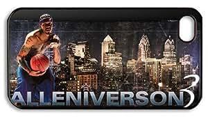 XiFu*MeiLZHCASE Personalized Protective Case for iPhone 4/4S - Allen Iverson 3, NBA Philadelphia 76ersXiFu*Mei
