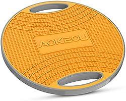 AOKEOUバランスボード ダイエット 体幹トレーニング用 滑り止め 360度回転 フィットネス トレーニング 筋トレヨガも対応 (オレンジ)