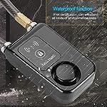 Qinlorgon-Lucchetto-per-Bicicletta-80-cm-Smart-Keyless-Bluetooth-Lock-Lucchetto-antifurto-per-Allarme-antifurto-a-Filo-Metallico-110dB-Impermeabile