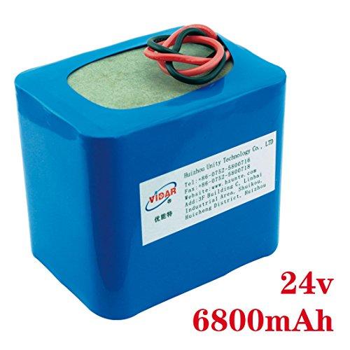 24v 6.8ah 18650 external battery packs 6800mah rechargeable battery for robot outdoor portable lithium batteries