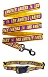 LA Lakers Nylon Collar for Pets and Matching Leash (NBA Official by Pets First) Size Medium